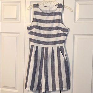 Striped Casual Romper. Never Worn